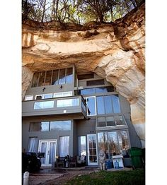 The Cave House of a family in Festus, Missouri is built inside a 17,000 square foot gouge in the earth, left behind by a sandstone mine from the 1930s.  by KPLR11