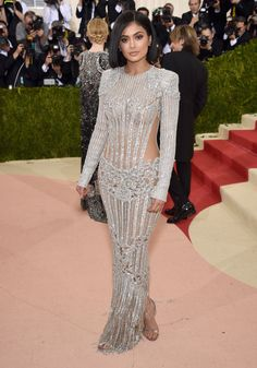 Kylie Jenner Looks Like A Crystal Chandelier At Her First Ever Met Gala