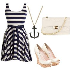 I have a new found love for nautical clothing! CUTE!