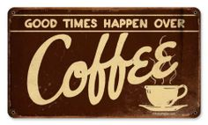 Coffee Food and Drink Vintage Metal Sign - Victory Vintage Signs by Victory Vintage Signs. $19.95. High Resolution Color Image. Vintage Sign. Dimension: 14 x 8. Made in the USA. Quality Heavy Gauge Metal Sign. From the Retro Planet licensed collection, this Coffee vintage metal sign measures 14 inches by 8 inches and weighs in at 1 lb(s). This vintage metal sign is hand made in the USA using heavy gauge american steel and a process known as sublimation, where the image is ba...