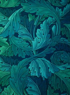 Acanthus wallpaper design by William Morris, William Morris Wallpaper, William Morris Art, Morris Wallpapers, Of Wallpaper, Designer Wallpaper, Art Nouveau Wallpaper, Liberty Wallpaper, French Wallpaper, Pattern Wallpaper