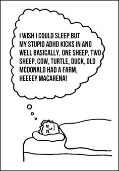 I wish I could sleep.