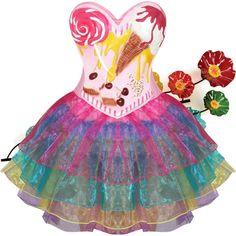 Rainbow Dress by septum-scorpio on Polyvore