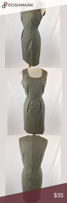 Calvin Klein dress SKU: SD15605  Length Shoulder To Hem: 40 Bust: 37 Waist: 30 Fabric Content: 87% polyester, 13% rayon Hip: 41 Lining Fabric: 100% polyester This has belt loops, but no belt is included. The size tag has been removed, and size is estimated. Calvin Klein Dresses