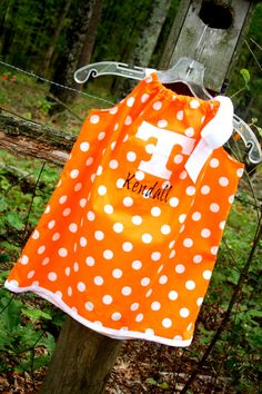 Tennessee Vols Pillowcase Dress w/ Power T applique' by livikate1, $25.00