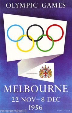1956-Olympic-Winter-Games-Melbourne-Australia-Travel-Advertisement-Poster