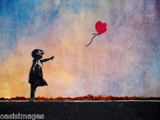 banksy GIRL & BALLOON choose either a print, t shirt transfer or sticker