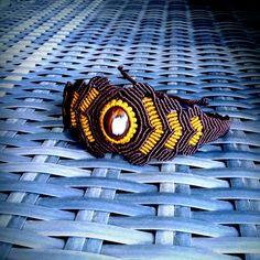 Mahogany macrame bracelet