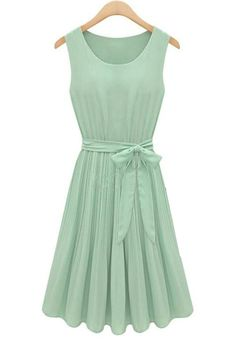 Arboretum Frolic Accordion Pleat Dress in Pastel Green | Sincerely Sweet Boutique