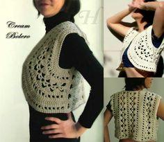 Bolero calado crochet