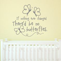 BUTTERFLIES Quote 24X22 Vinyl Lettering by Decomod Walls on Etsy, $22.00