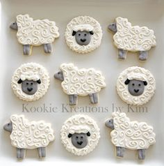 Sheep cookies - Kookie Kreations by Kim