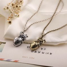 """""""Hannibal""""  heart  Necklace Rope Chain Netvibes heart Pendant  Necklace Jewelry For Men&Women"""