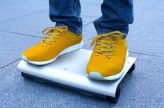"""""""WalkCar"""" is the world's smallest electric vehicle, that works with the way you bend your body, like a tiny Segway. Watch the video...https://www.youtube.com/watch?v=XvG_356itPsWalkCar by"""