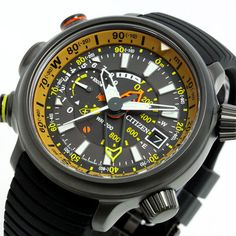 Citizen Men's Eco Drive Titanium Promaster Diver's Watch - In Stock, Free Next Day Delivery, Our Price: Buy Online Now Stylish Watches, Cool Watches, Watches For Men, Men's Watches, Wrist Watches, Casio G Shock Watches, Titanium Jewelry, Citizen Eco, Quality Watches