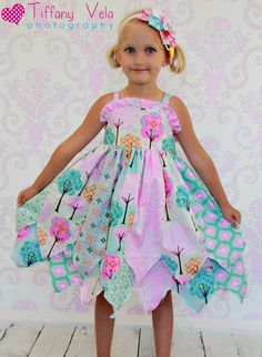 Fairy's double layer princess dress PDF Pattern Sizes 6 months to size 8 - Babysachen Knot Dress, Dress Up, Dress Girl, Play Dress, Clothing Patterns, Dress Patterns, Sewing Patterns, Crochet Patterns, Little Girl Dresses