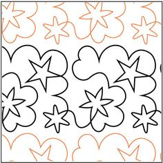 Starry Dreams quilting pantograph pattern by Barbara Becker - Four Paws