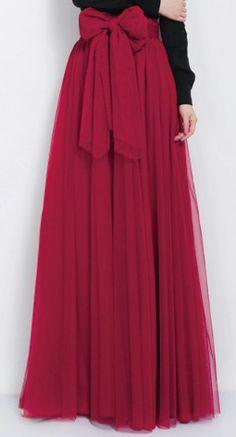 beautiful high-waisted maxi skirt