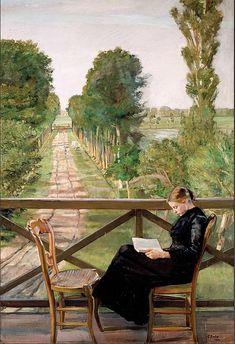 Christian Krohg (Norwegian painter), Villa Britannia, Belgia (Villa Britannia, Belgium), 1885, oil on canvas, 200 x 136 cm., Nasjonalmuseet for Konst, Oslo, Norway