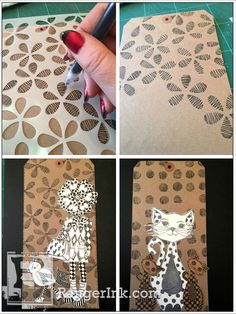 In this is a way of using here stencils I hadn't thought of...tried...  Introducing New Dylusions Stencil Designs | Ranger Ink and Innovative Craft Products
