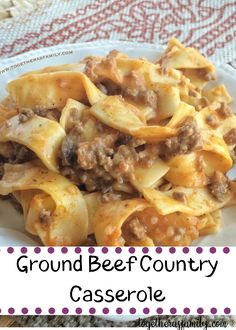 This Tomato Beef Country Casserole Is Packed With All Your Favorite Comfort Foods Daily Cooking Recipes is part of Casserole recipes You'll love how easy ad flavorful this recipe is! Beef Dishes, Pasta Dishes, Food Dishes, Main Dishes, Side Dishes, Meat Recipes, Dinner Recipes, Cooking Recipes, Recipies