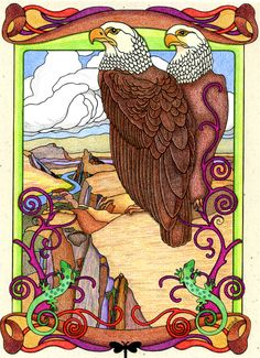 Stephanie Bodlak (18+ division) from Creative Haven Art Nouveau Animal Designs Coloring Book