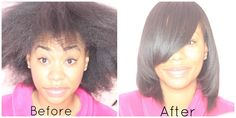 Watch The Magic Of Hair Transformation After A Sleek Silk Press On Natural Hair. Looks Gorgeous! - Black Women& Natural Hair Styles - A. Pressed Natural Hair, Natural Hair Care, Natural Hair Styles For Black Women, Short Hair Styles, Natural Styles, Afro Hairstyles, Straight Hairstyles, Natural Hairstyles, Pretty Hairstyles