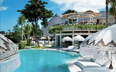 Cocoon Bali. Poolside cocktails. Any easy walk from Padma Bali Resort