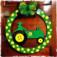 John Deere Tractor Door Hanger!