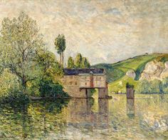 "maufra maxime the watermill les andelys 1902 sotheby (from <a href=""http://www.oldpainters.org/picture.php?/30172/category/13215""></a>)"