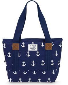 Anchor Print Canvas Boat Tote Bag $60