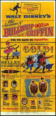 The Adventures of Bullwhip Griffin Disney Movie Poster