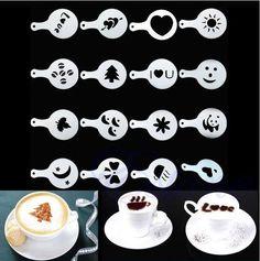 Szablony do kawy  #kawa #barista #wzory #szablony #sprzedam