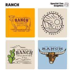 Ranch - TheVectorLab Store Signage, Affinity Photo, Affinity Designer, Graphic Design Software, Photoshop Illustrator, Coreldraw, One Design, Graphic Design Inspiration, Vector Graphics