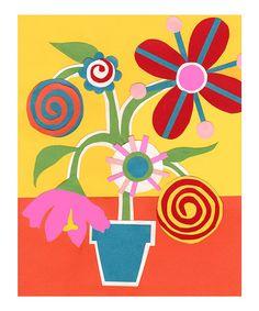 Look at this #zulilyfind! Candy Flowers II Art Print #zulilyfinds