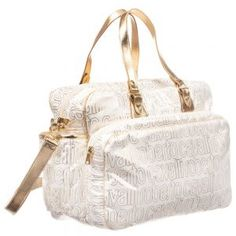 This stylish bag features a large internal compartment, a frontal pocket with a zipper and a detachable shoulder strap. Designer Changing Bags, Baby Changing Bags, Luxury Logo, Kids Bags, Roberto Cavalli, Gym Bag, Shoulder Strap, Pouch, Reusable Tote Bags
