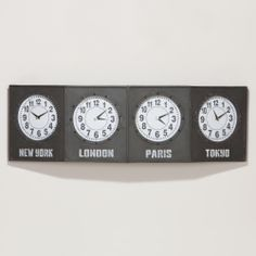 Time Zone Clock-Time Zone Clock | World Market   So Carmen knows when and when not to phone/skype her friends overseas :)