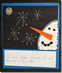 Christmas/Winter - Activity to go with the book Snowmen at Night - The First Grade Parade
