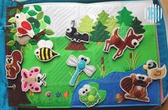 What a CUTE page! Match the animals to their home. Really cute animals too! (makes me wish I had an embroidery sewing machine)