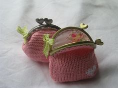 coin purses by rosaechocolat, via Flickr