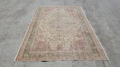 Overdyed Rug 8,8x5,8 Feet  265x174 Cm Vintage Oushak Carpet Rug Home Floor Decor Turkish Carpet Rug Overdyed Rug