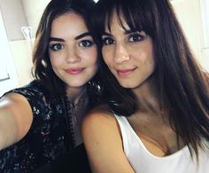 Aria and spencer #sparia Troian and Lucy #trucy