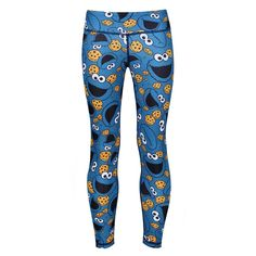 Who can resist Cookie Monster leggings, especially when they're this compact?! Treat your mini superstar to some colourful retro Sesame Street activewear so you can enjoy working out together.  Full-length for protection on hot or cold days, the soft LYCRA fabric is silky smooth and moves like a second skin, so they won't be held back by sagging or restrictive material. Quick-drying, these tights wick away sweat during action and are really easy to launder. Compression Vest, Mens Measurements, Tights, Leggings, Small Waist, Cold Day, Skin Tight, Second Skin, Cookie Monster