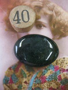 Semi Precious Stone Moss Agate Large Polished by dimestoreemporium, $8.00