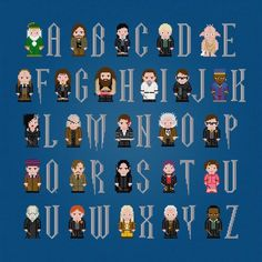 Looking for your next project? You're going to love Harry Potter Alphabet 2 Cross Stitch by designer pxlpwr.