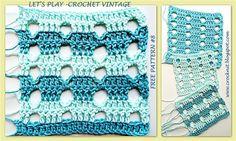 treble crochet linked treble crochet ltr crochet new stitch ...