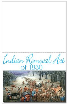 Trail of Tears Indian Removal Act Minibook, great for a lapbook on US history or the 1800s