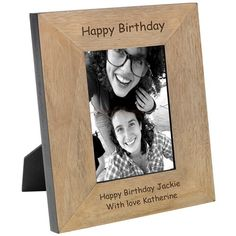 Engraved Happy Birthday Solid Oak Photo Frame - :: Engraved with your own personalised message - Fast UK Delivery. Engraved Gifts, Personalised Gifts, Birthday Gifts, Happy Birthday, Wood Photo, Photo Picture Frames, Photo Gifts, Presents, Search