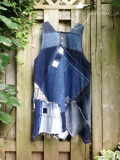 Upcycled Denim Patchwork Tunic Dress Patchwork Artsy Tunic