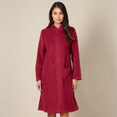 Dark pink textured flower robe - Dressing gowns - Debenhams.com